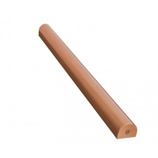 3.5 Metre D Section Toilet Cubicle Headrail in Copper Finish