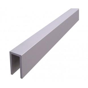 3 Metre U Channel Headrail for 18mm Board in Satin Aluminium