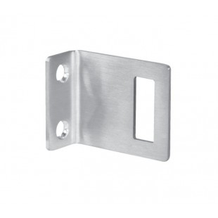 Satin Stainless Steel Angle Lock Keep for 20mm Partition
