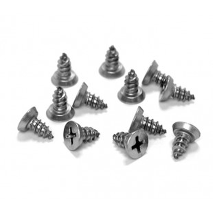 Satin Stainless Steel Hinge Screw Fixings for 13mm Partition