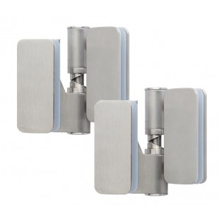 Satin Stainless Steel Glass Patch Fitting Hinges