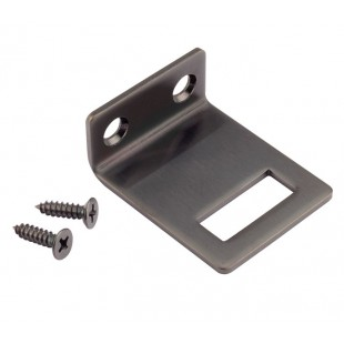 Matte Black Stainless Steel Angle Keep for 20mm Cubicles