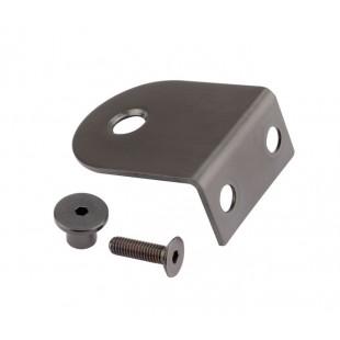 Matte Black L Shaped Stainless Steel Brackets for 20mm Board