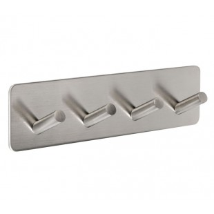 Self Adhesive Coat Hook with Four Pegs on backplate Plate