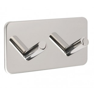 Adhesive Coat Hooks in Stainless Steel with Double Hook
