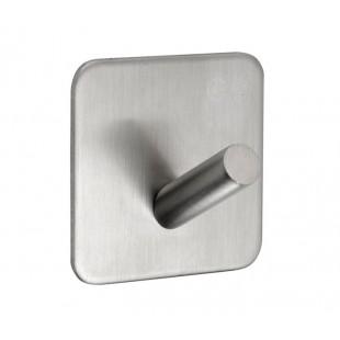 Self Adhesive Coat Hook in Satin Stainless Steel