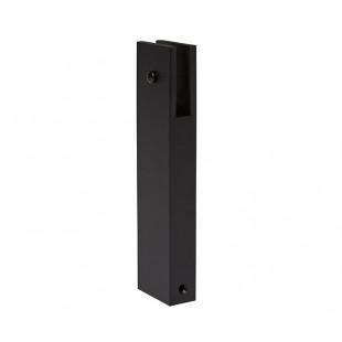 150mm High Matte Black Aluminium Rectangular Leg Support