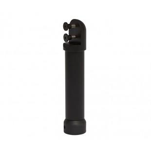Matte Black Aluminium Dome Adjustable Cubicle Leg Support