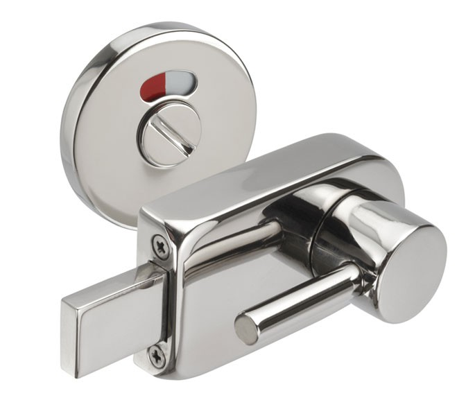 Disabled toilet door lock with emergency release cubicle - Bathroom door that fogs up when locked ...