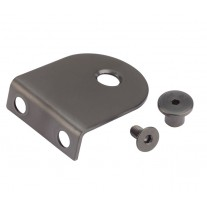 Matte Black L Shaped Stainless Steel Brackets for 13mm