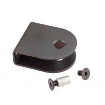 Matte Black U Shaped Toilet Cubicle Brackets for 13mm Board