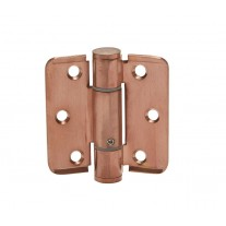 Spring Loaded Hinges Adjustable in Brushed Copper Finish