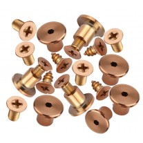 Copper PVD stainless steel Hinge fixing pack for 13mm doors