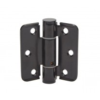 Unsprung Cubicle Hinges in Matte Black Finish