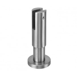 Cubicle Partition Leg with 85mm - 115mm Adjustable Height and Satin Stainless Steel Finish for 13mm Partitions