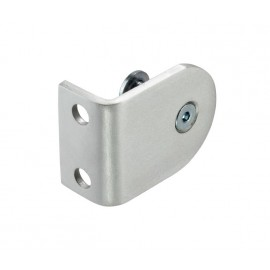 Cubicle L Bracket with Satin Anodised Aluminium Finish for 20mm Cubicle Partition