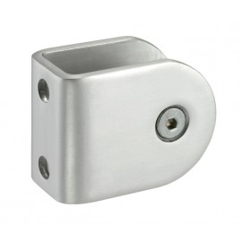 Cubicle U Bracket with Satin Anodised Aluminium Finish for 20mm Cubicle Partition