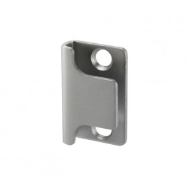 Cubicle Lock Keep Satin Anodised Aluminium U Shaped Lock Keep for 13mm & 20mm Partition