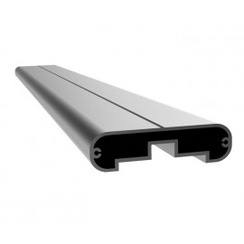 3m Curved Cubicle Headrail with Satin Anodised Aluminium Finish