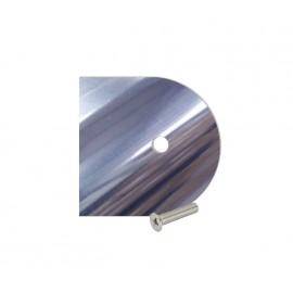 Cubicle Polished Aluminium D Section Headrail End Cap