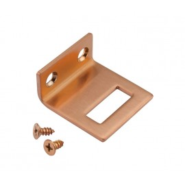 Copper Finish Angle Door Lock Keep for 13mm Cubicle Partition
