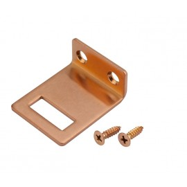 Copper Finish Angle Door Lock Keep for 20mm Cubicle Partition