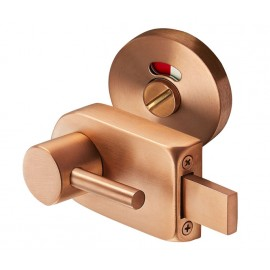 Copper Finish Disabled Toilet Lock with Emergency Release L/H