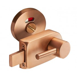 Copper Finish Disabled Toilet Lock with  Emergency Release R/H