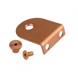 Copper Finish L Shaped Cubicle Brackets for 13mm Cubicle Partition