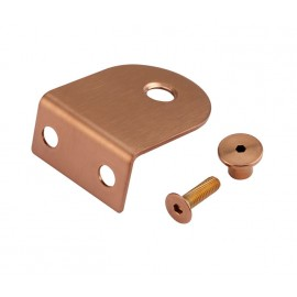 Copper Finish L Shaped Brackets for 20mm Cubicle Partition
