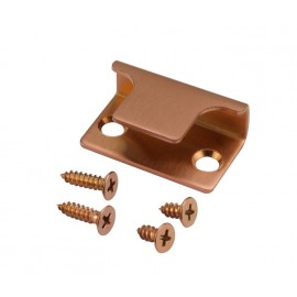 Copper Finish Lock Keep for Toilet Cubicles 13mm & 20mm Board