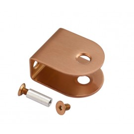 Copper U Shaped Cubicle Brackets for 20mm Cubicle Partition