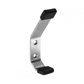 Cubicle Coat Hook for Coats and Hats with Satin Stainless Steel Finish and Buffers