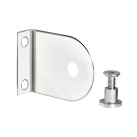 Cubicle L Bracket with Polished Stainless Steel Finish for 13mm Cubicle Partition