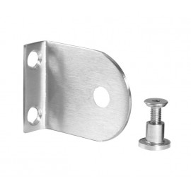 Cubicle L Bracket with Satin Stainless Steel Finish for 13mm Cubicle Partition