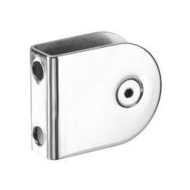 Cubicle U Bracket with Polished Stainless Steel Finish for 13mm Cubicle Partition