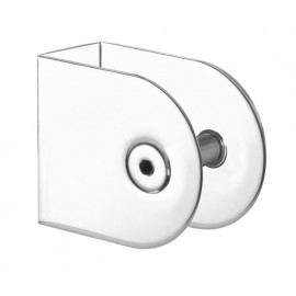 Cubicle U Bracket with Polished Stainless Steel Finish for 20mm Cubicle Partition