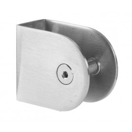 Cubicle U Bracket with Satin Stainless Steel Finish for 20mm Cubicle Partition