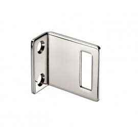 Cubicle Lock Keep Polished Stainless Steel Angle Lock Keep for 13mm Partition