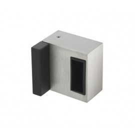 Cubicle Lock Keep with Buffer Satin Stainless Steel Deluxe Box Keep for 13mm Partition