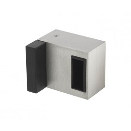 Cubicle Lock Keep with Buffer Satin Stainless Steel Deluxe Box Keep for 20mm Partition