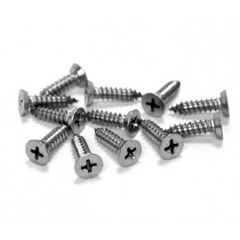Cubicle Hinge Fittings 18mm Polished Stainless Countersunk Steel Wood Screws for 20mm Partitions