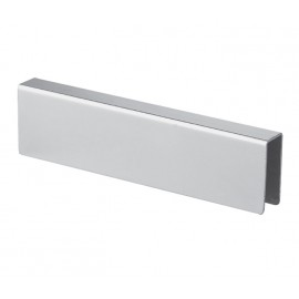 3m Channel Headrail for Cubicle with Satin Stainless Steel Finish
