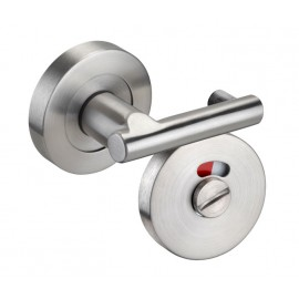 Cubicle Lock Pilaster Turn Lock Satin Stainless Steel with Indicator Release and Buffers