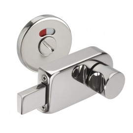 Toilet Cubicle Door Locks with Polished Stainless Steel Indicator Bolt and Release