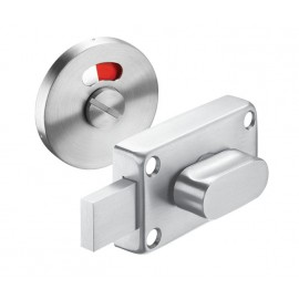 Cubicle Lock Satin Stainless Steel Indicator Lock with Release for Toilet Cubicles