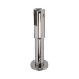 Cubicle Partition Leg with 150mm - 180mm Adjustable Height Polished Stainless Steel Finish for 13mm Partitions