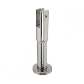 Cubicle Partition Leg Support with 150mm - 180mm Adjustable Height Polished Stainless Steel Finish for 20mm Partitions