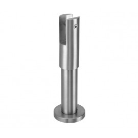 Cubicle Partition Leg Support with 150mm - 180mm Adjustable Height Satin Stainless Steel Finish for 20mm Partitions