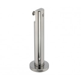 Cubicle Partition Leg Support with 150mm Height Polished Stainless Steel Finish for 13mm & 20mm Partitions